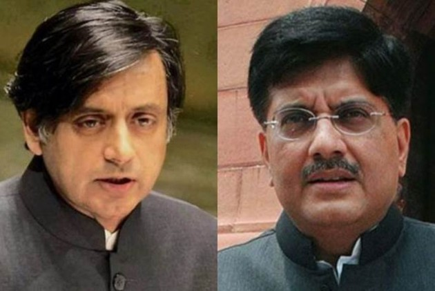 "Piyush Goyal said he did not understand ""foreign English accent"" of Shashi Tharoor"