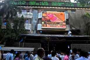 Sensex Falls Over 200 Points On Weak Macro Cues