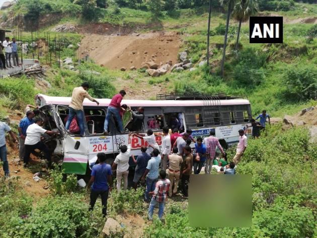 Telangana: 52 Killed As Bus Falls Into Gorge In Jagtial District