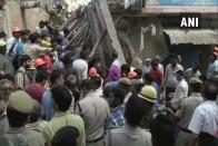 4 Children Feared Dead As Building Collapses In Delhi