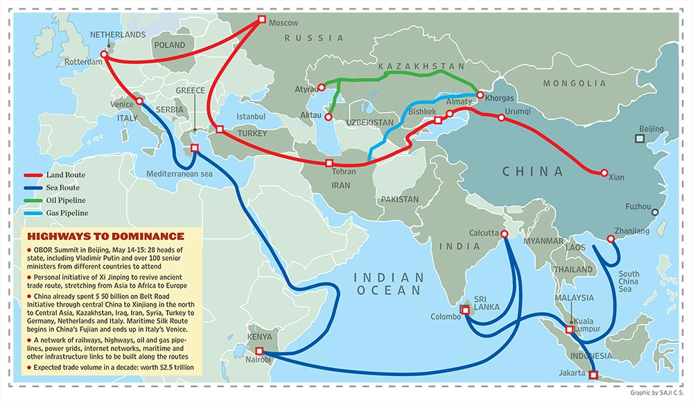 The New Silk Road To Empire - The us empire map 2017