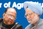 Manmohan Singh has intervened to halt the attack on Pawar (left), attributing the food inflation to drought and better rural incomes