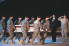 Obama salutes the 18 US soldiers killed in Afghanistan in October 2009