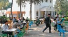 <b>What will bite</b> AMU students at the canteen; Prof Siras outside the gates