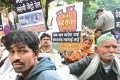 <b>Political capital</b> BJP workers in New Delhi protest against the price rise
