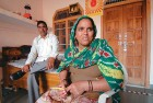 <b>Fast learner</b> Geeta Chaudhury of Jaguvas, Alwar, who is confident enough to contest even on a general seat