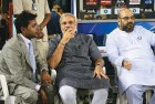 Lalit Modi and Narendra Modi at an IPL match in Ahmedabad