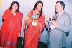 <b>At ease</b> Madhuri Gupta (left) at an ICWA get-together