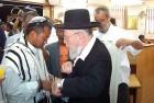 Kiryat Arba's chief rabbi at the circumcision ceremony of Khaute's third son