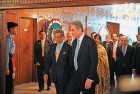 <b>Talking heads</b> Pakistani foreign minister Shah Mahmood Qureshi and S.M. Krishna arrive for talks in Islamabad on July 15