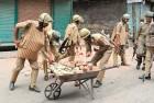 <b>Pelter's fury</b> Cops remove stones from Srinagar