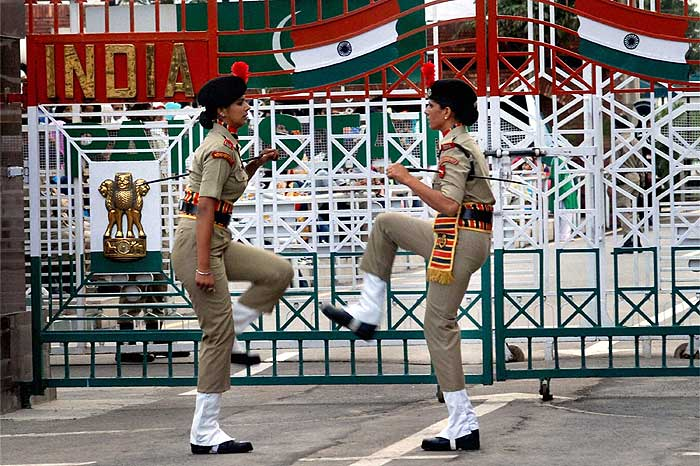 Now BSF Women Beating Retreat at Wagah Border