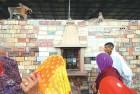 Prayers at a Ram janmabhoomi workshop set with Sri Ram bricks