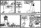 <b>Frog March:</b> A Suki strip published in the <i>Pioneer</i> in 1993, and republished in <i>This is Suki</i> collection