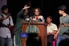 Arundhati Roy's speech being disrupted in New Delhi recently