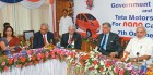 Radia, Gujarat chief secy Rajagopalan, Tata Motors CEO Ravikant, Ratan Tata & Modi during the MoU for the Nano plant in Sanand, Gujarat
