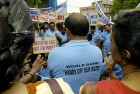 Protest against the World Bank's policies