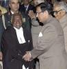 Justice Y.K. Sabharwal greets Justice Balakrishnan after the latter becomes CJI