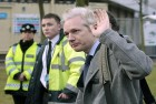 WikiLeaks founder Julian Assange arrives at Belmarsh Magistrate s court in London for his extradition hearing on Jan 11