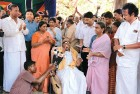<b>Family matters</b> Karunanidhi with family members and party workers during a public function in Chennai