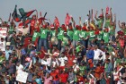 <b>Cheer on</b> Spectators at the India vs Bangladesh World Cup opening match. Such passionate excitement will be hard to match in India.