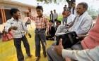<b>A voice heard</b> A BBC Hindi radio club in Asthan Village, near Kunda town, UP
