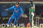 With the ball turning, Dhoni was on familiar terrain, and his captaincy was flawless. Here, Harbhajan castles Umar Akmal.