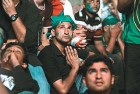 <b>No respite</b> Pakistani fans despair as the match goes India's way