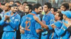 Man of the moment: Sachin Tendulkar and other teammates congratulate Yuvraj Singh after he is named Man of the Tournament
