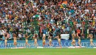 Cheerleaders prime the IPL crowds at the Kotla, Delhi