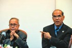 <b>Pointing Fingers</b> Union finance minister Pranab Mukherjee is at loggerheads with Reserve Bank governor D. Subbarao (right)