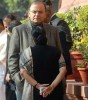 <b>Crossed Swords</b> Jaitley and Sushma outside Parliament