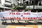 Indonesian AIDS patients protest the EU-India FTA on generic drugs in Jakarta