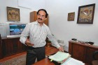 Raghavendra Shastry in his office
