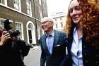 Murdoch and Rebekah Brooks in London on July 10