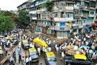 <b>Mark of Aug 25, 2003</b> A damaged building in Zaveri Bazaar...