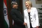 <b>Steady light</b> S.M. Krishna with Hillary Clinton in New Delhi on July 19