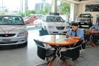 <b>Missing zip</b> Once a buzz of activity, car showrooms are now empty