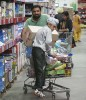 Stop shop Customers at a Walmart store in Amritsar