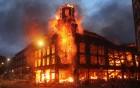 Aug 07, 2011: Fire rages through a building in Tottenham, north London