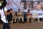 Police at a theatre screening Aarakshan, Mumbai
