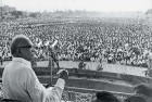 <b>Lok nayak</b> Jayaprakash Narayan addressing a rally. The 1974 Navnirman movement in Gujarat was his prototype.