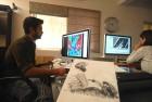 <b>Filling in the space</b> <i>Helmet Man</i>'s creator Amitabh Kumar in his Delhi office