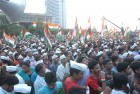 <b>Angry brigade</b> Supporters rallying behind Anna's cause