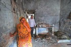 <b>Saira Salim Sandhi</b> Lost her entire family in the riots of 2002. Here she is seen at the charred remains of what was once her home in Gulberg Society, Ahmedabad.