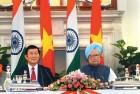 Vietnam President Truong Tan Sang, Manmohan Singh at a press conference, New Delhi