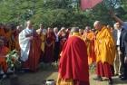 <b>Show us the way</b> Dalai Lama at the three-day Global Buddhist Congregation, 2011, in Delhi