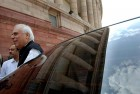 <b>What next, sir?</b> Sibal arriving in Parliament