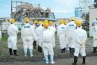 An IAEA team at the Fukushima Daiichi plant