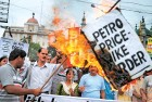 <b>On ire street</b> Calcutta erupts over the petrol and diesel price hike